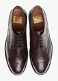 George Hogg %100 Deri Oxford Ayakkabı Bordo
